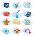 Vector Icons for Cloud network Royalty Free Stock Image