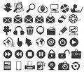 Vector icons computer concept isolated on white Royalty Free Stock Images