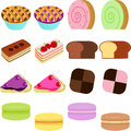 Vector Icons : Cute Sweet Cake Royalty Free Stock Images