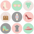 Vector icons design concept of fashion accessories Royalty Free Stock Photo