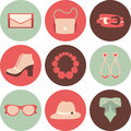 Vector icons design concept of fashion accessories