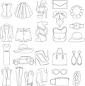 Vector icons design concept of fashion look
