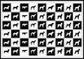 Vector Icons Dog Royalty Free Stock Photo