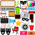 Vector Icons : Drama, Entertainment, Film, movie Stock Photo