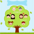 Vector Icons: Family Tree Stock Photo