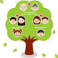 Vector Icons: Family Tree Stock Image