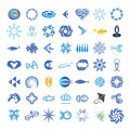 Vector icons with the fishes collection of Royalty Free Stock Images