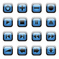 Vector icons set for web applications Royalty Free Stock Images