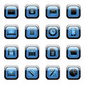 Vector icons set for web applications Stock Photo