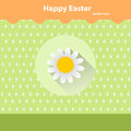 Vector icons with shadow for Easter on a green background