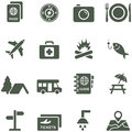Vector icons for travel and tourism all elements are on separate layers possible to easily change the colors size without Royalty Free Stock Image