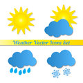 Vector icons weather on a white background Stock Photography