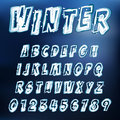 Vector icy font abstract illustration of an alphabet Stock Photo