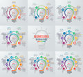 Vector idea light bulb circle infographic set of templates Royalty Free Stock Photo