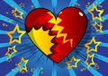Comic book style heart, abstract love symbol.