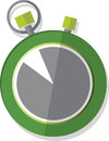 Vector illustrated stop watch colored green and grey Royalty Free Stock Photo