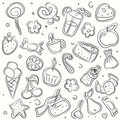 Vector illustrated sweets Royalty Free Stock Photo