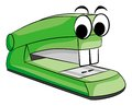 Vector illustratio of a green stapler animal Stock Photo