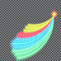Vector illustration of abstract background with blurred magic neon light curved lines Royalty Free Stock Photo