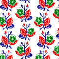 Vector illustration of abstract colorful flowers pattern