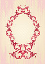 Vector illustration of an abstract floral frame Stock Photo