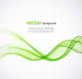 Vector illustration abstract green wave background Stock Photo