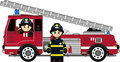 Roztomilý hasič hasiči