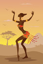 Vector illustration of african woman Royalty Free Stock Photography