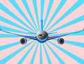 Vector illustration of airplane or airbus plane Royalty Free Stock Image