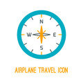 Vector illustration of airplane travel