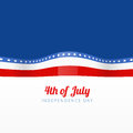 Vector illustration of american flag stylish with space for your text Royalty Free Stock Photography
