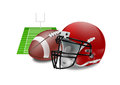 Vector illustration of american football objects Royalty Free Stock Image