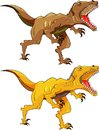 Vector illustration of angry dinosaur raptor Royalty Free Stock Photo
