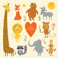 Vector illustration of animals set Royalty Free Stock Photography