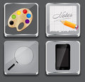 Vector illustration of apps icon set Stock Photos