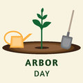 Vector illustration for arbor day