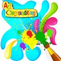 Vector illustration of art and painting competition poster Royalty Free Stock Images
