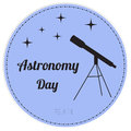 Vector illustration of astronomy day