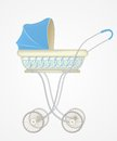 Vector illustration of baby carriage for boy Royalty Free Stock Images