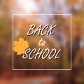 Vector Illustration of back to school lettering typography