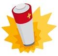 Vector illustration of battery providing power Royalty Free Stock Image