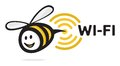 Vector illustration bee wi fi icon Stock Images