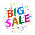 Big sale background with colorful confetti Royalty Free Stock Photo