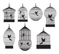 Vector illustration bird cages Royalty Free Stock Image