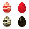 Vector illustration of black and red egg