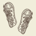 Vector illustration black sports sneakers