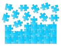 Vector illustration of a blue jigsaw puzzle Royalty Free Stock Image