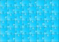 Vector illustration of a blue jigsaw puzzle Stock Images