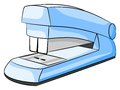 Vector illustration blue stapler white background Royalty Free Stock Images