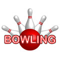 Vector illustration of bowling icon Stock Photos